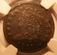 1811 CLASSIC HEAD HALF CENT NGC EXTRA FINE  DETAILS, CORROSION