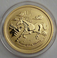 2014 AUSTRALIA YEAR OF THE HORSE PFERD 1/20 OZ GOLD 5$