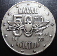 U.S. NAVAL AVIATION 50TH ANNIVERSARY MEDAL   3.85OZT OF .999 FINE SILVER