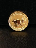 2005 AUSTRALIA 5 DOLLAR 1/20 OZ GOLD NUGGET .9999 UNC