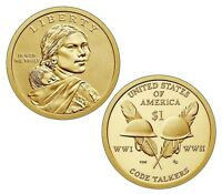 2016 D NATIVE AMERICAN DOLLAR   UNCIRCULATED  FROM MINT ROLL   CODE TALKERS