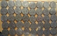 FULL ROLL OF 1952 D JEFFERSON NICKELS   AVERAGE CIRCULATED  40 COINS