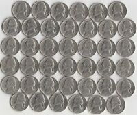 FULL ROLL OF 1982 D JEFFERSON NICKELS   EXTRA FINE/ABOUT UNCIRCULATED  40 COINS