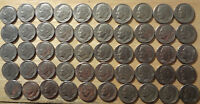 ROLL 1983 D ROOSEVELT DIMES FINE TO ABOUT UNCIRCULATED  50 COINS
