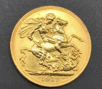 1912 GEORGE V GOLD SOVEREIGN 22CT   LONDON MINT