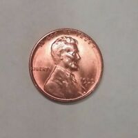 1955 S RED RD UNCIRCULATED BU LINCOLN WHEAT CENT PENNY  FROM BU ROLL