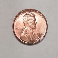 1946 P RED RD UNCIRCULATED BU LINCOLN WHEAT CENT PENNY  681