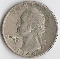 SILVER 1944 WASHINGTON QUARTER   CHOICE EXTRA FINE/ABOUT UNCIRCULATED