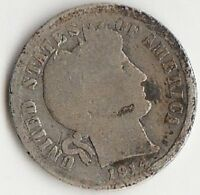 SILVER 1914 D BARBER DIME   ABOUT GOOD