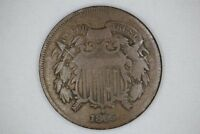 1865 2C TWO CENT PIECE UNITED STATES US OLD COIN