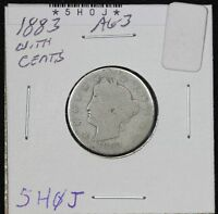 1883 LIBERTY NICKEL AG WITH CENTS