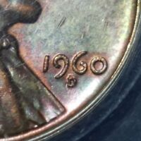 ERROR 1960-D/D RPM-13 AU55 LARGE DATE LINCOLN MEMORIAL CENT 1C ANACS TONED