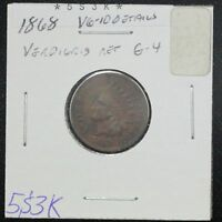 1868 INDIAN CENT G
