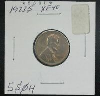 1923-S WHEAT CENT EXTRA FINE