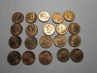 1989 ONE CENT COINS  X20