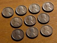 LOT OF 10 EARLY LINCOLN CENTS NO DUPLICATES 1909 1917 D 1918 D S 1920 D