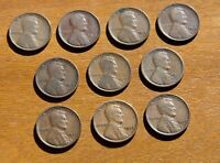 LOT OF 10 EARLY LINCOLN CENTS NO DUPLICATES 1909 1917 D 1919 S 1923 1924