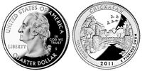 2011 S GEM BU PROOF CHICKASAW NATIONAL MILITARY PARK STATE QUARTER UNC COIN PF