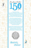 BEATRIX POTTER   150TH ANNIVERSARY 50P FIFTY PENCE COIN   UNCIRCULATED