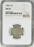 1906 LIBERTY NICKEL NGC AU-53
