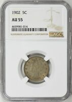 1902 LIBERTY NICKEL NGC AU-55