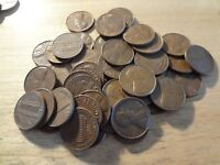 ROLL OF 1970 S LINCOLN MEMORIAL CENTS  AVERAGE CIRCULATED