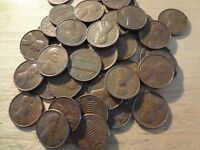ROLL OF 1971 S LINCOLN MEMORIAL CENTS  AVERAGE CIRCULATED