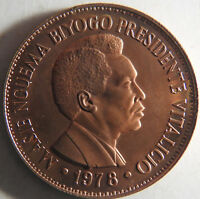 EQUATORIAL GUINEA 2000 EKUELE PROOF   TRIAL STRIKE IN COPPER   25 OR LESS TOTAL