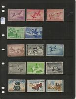 US USED DUCK COLLECTION $1 TO $3 BETWEEN RW5 & RW37