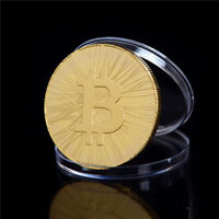 1X  GOLD PLATED FIRST BITCOIN ATM COMMEMORATIVE COIN COLLECTION GIFT NA
