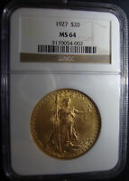 HAMMERED 1927 P ST. GAUDENS GOLD DOUBLE EAGLE   NGC MS 64   UNDERGRADED?