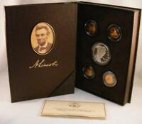 2009 LINCOLN COIN & CHRONICLES PROOF SET   4 DIFFERENT CENTS AND LINCOLN DOLLAR