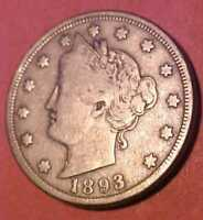 1893 LIBERTY NICKEL R GEM CIRCULATED HARDER TO FIND  MAKE AN OFFER