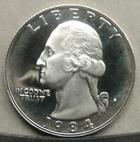 41718.15 PROOF 1984 S WASHINGTON QUARTER COMBINED SHIPPING AVAILABLE