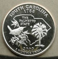 42018.09 PROOF 2000 S SOUTH CAROLINA STATE QUARTER COMBINED SHIPPING AVAILABLE