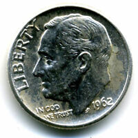 1962 D ROOSEVELT DIME SILVER 10 CENT SHARP ABOVE AVERAGE DETAIL NICE COIN4747