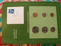 COIN SETS OF ALL NATIONS NEW ZEALAND W/CARD 1980   1981 UNC