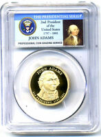 PCGS PR69DCAM 2007 S GEM PROOF JOHN ADAMS PRESIDENTIAL DOLLAR COIN4003