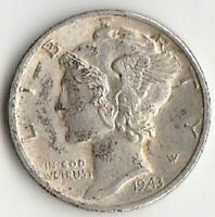SILVER 1943 D MERCURY DIME   CHOICE ABOUT UNCIRCULATED