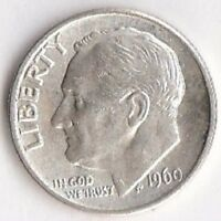 1960 SILVER ROOSEVELT DIME   BRILLIANT UNCIRCULATED