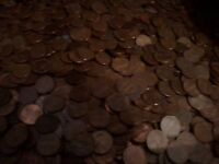 5 ROLLS  250 COINS  OF 1959 1981 P&D COPPER LINCOLN MEMORIAL CENTS  AVG CIRC