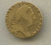 GREAT BRITAIN GEORGE III GOLD GUINEA 1794 CROWNED FOUR FOLD