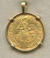 1773 NETHERLANDS HOLLAND GOLD DUCAT DESIGN IN 18K YELLOW GOL