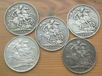 5 STERLING SILVER QUEEN VICTORIA CROWNS