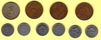 MEXICO 10 DIFFERENT 10 CENTAVOS COINS 1936 1999
