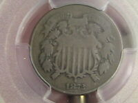 1872 TWO CENT PIECE PCGS G 6 LOW MINTAGE OF ONLY 65,000