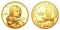 2004 S GEM BU PROOF SACAGAWEA GOLDEN DOLLAR BRILLIANT UNCIRCULATED DCAM COIN PF