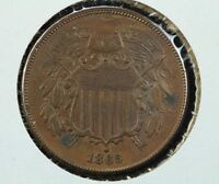 1865 2 CENT COIN BROWN MS
