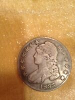1833 CAPPED BUST LETTERED EDGE HALF DOLLAR COIN