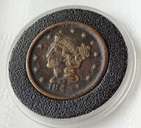 1848 LIBERTY HEAD LARGE CENT BRAIDED HAIR  HISTORIC BEAUTY MAKE OFFER